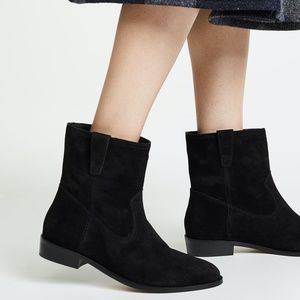 Rebecca Minkoff Chasidy Black Suede Ankle Booties